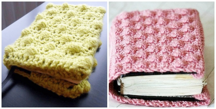 Crochet book cover texture pattern