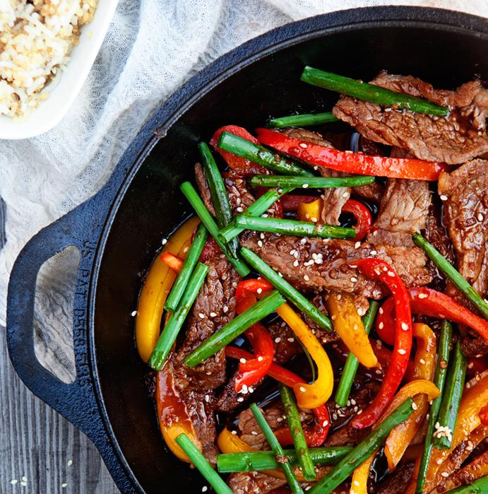 healthy beef and veggie stir fry