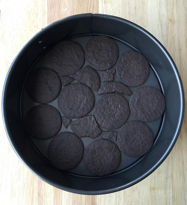 Mocha chocolate wafer base
