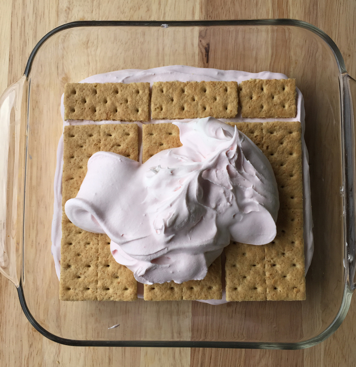 spread over graham crackers