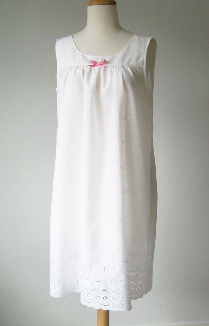 nightgown with pink bow
