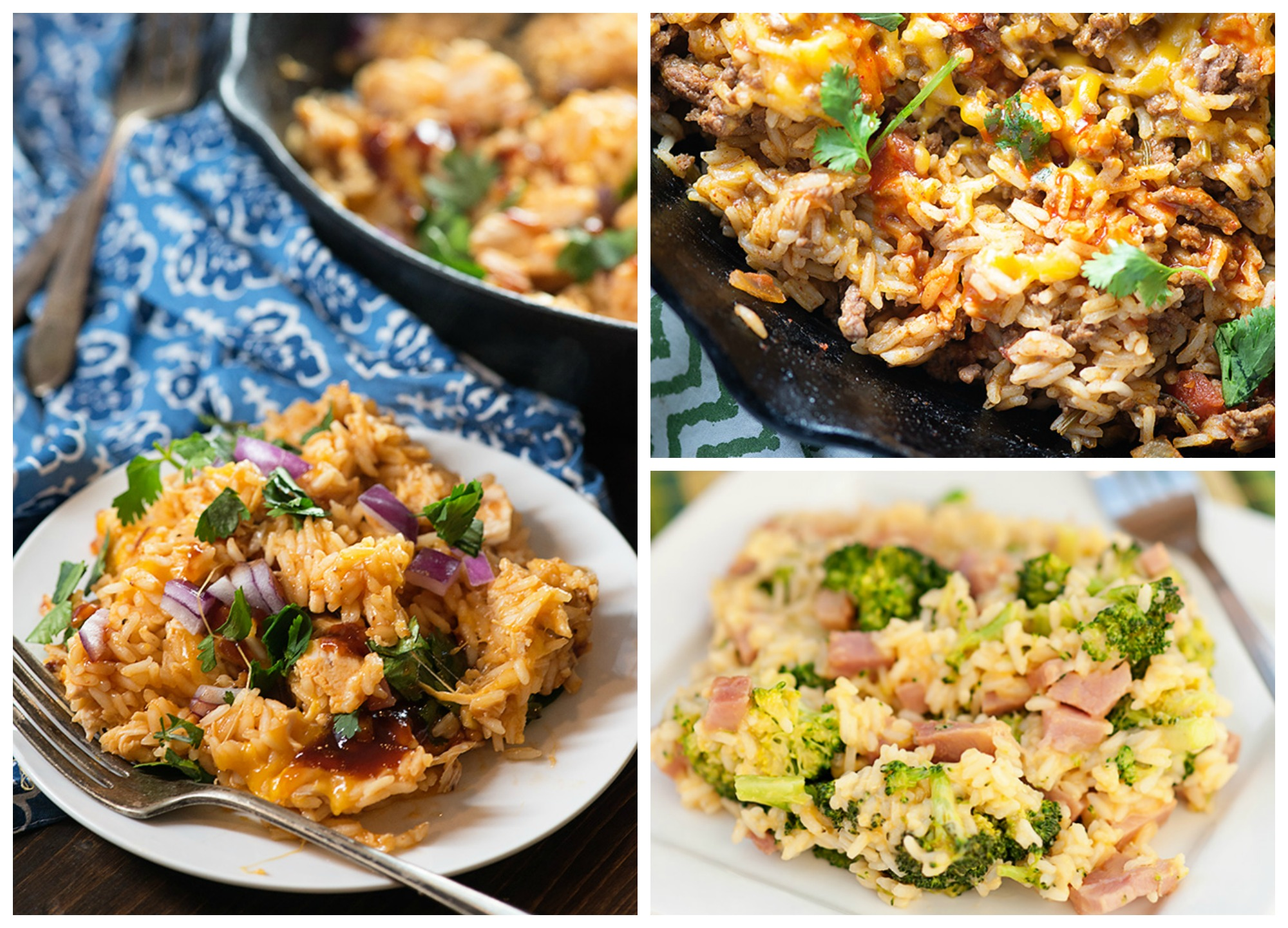 Recipes with Rice Rice Dinner Collage