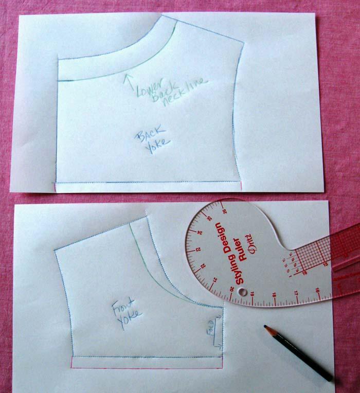 create yoke pattern pieces