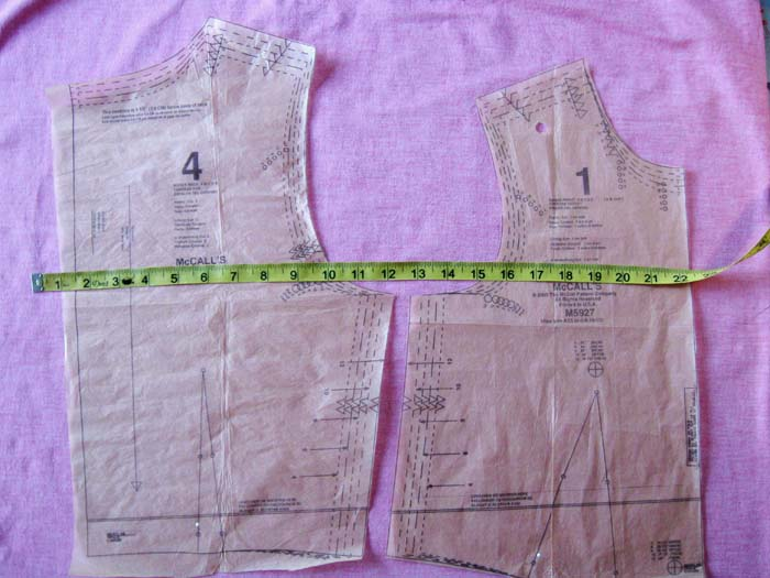 front and back bodice pieces
