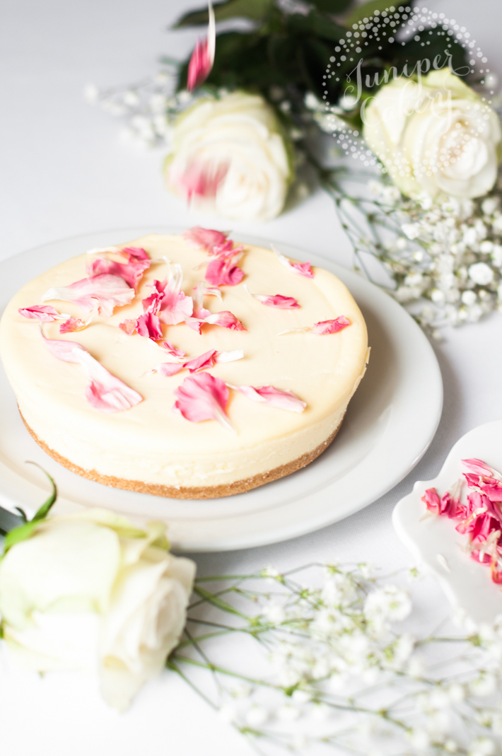 Pretty edible petals can add instant style to plain cheesecakes