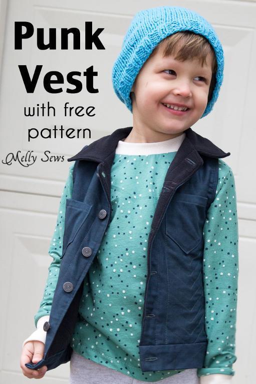 Punk Vest FREE Sewing Pattern