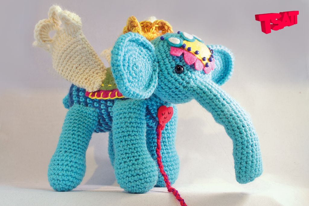 Amigurumi Winged Elephant Crochet Pattern