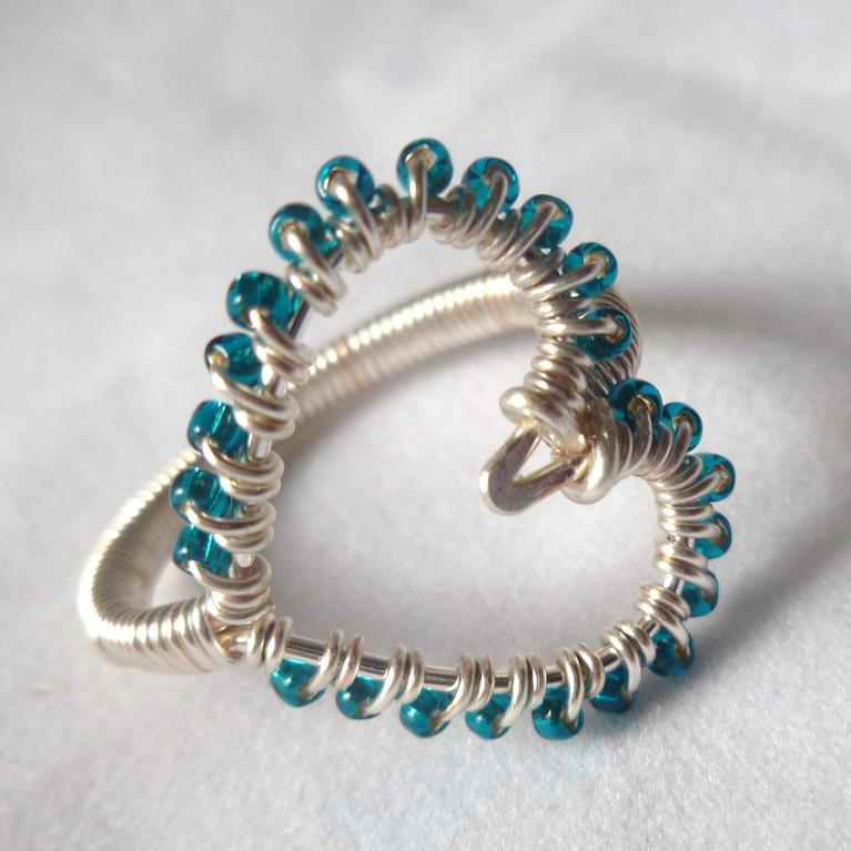 Simple Wire Wrapped Heart Ring