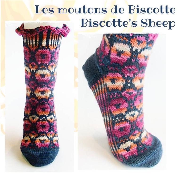 Sheep Socks Free Knitting Pattern