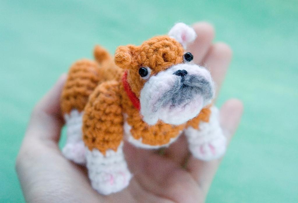 Bulldog Amigurumi Crochet Pattern
