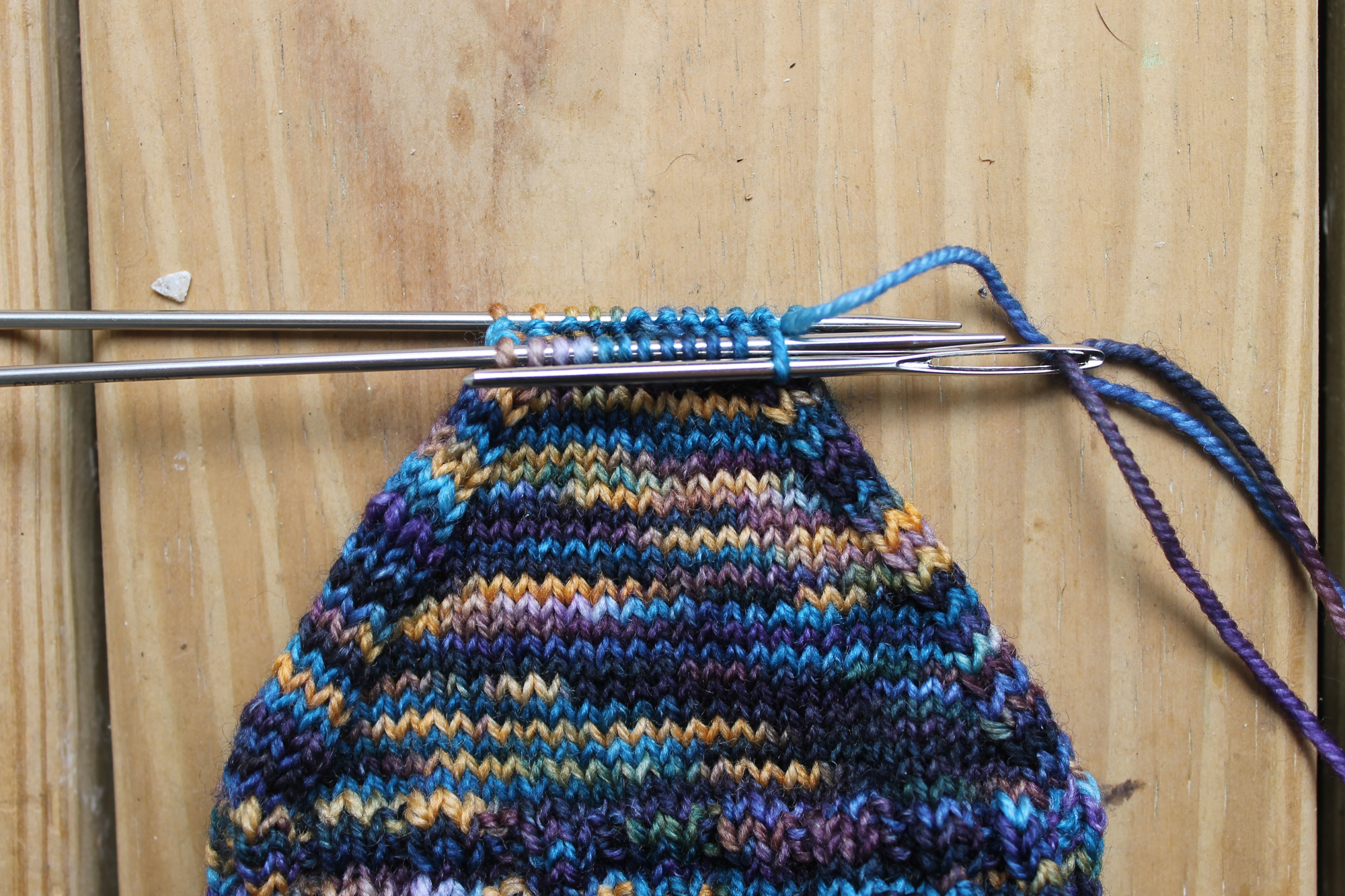 Inserting purlwise into the first stitch