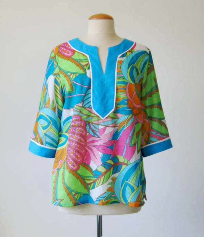cotton voile tunic top