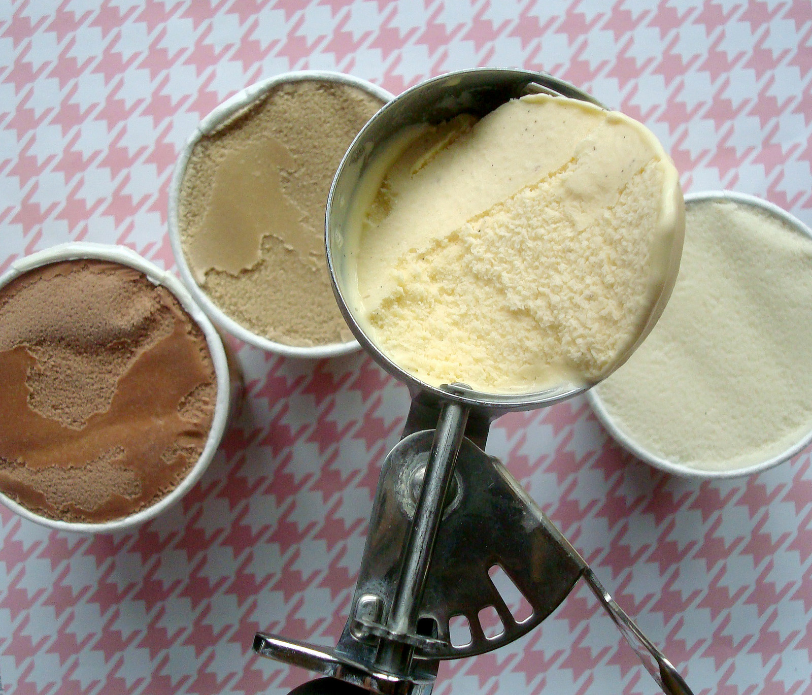 Ice cream in cake mix