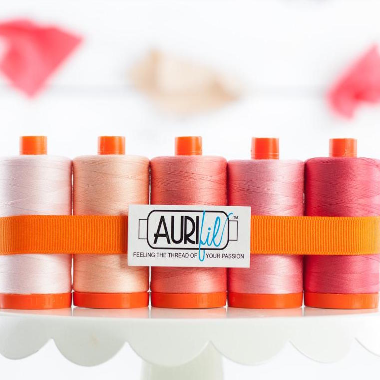 Aurifil 50wt Cotton Thread Tickeled Pink Set