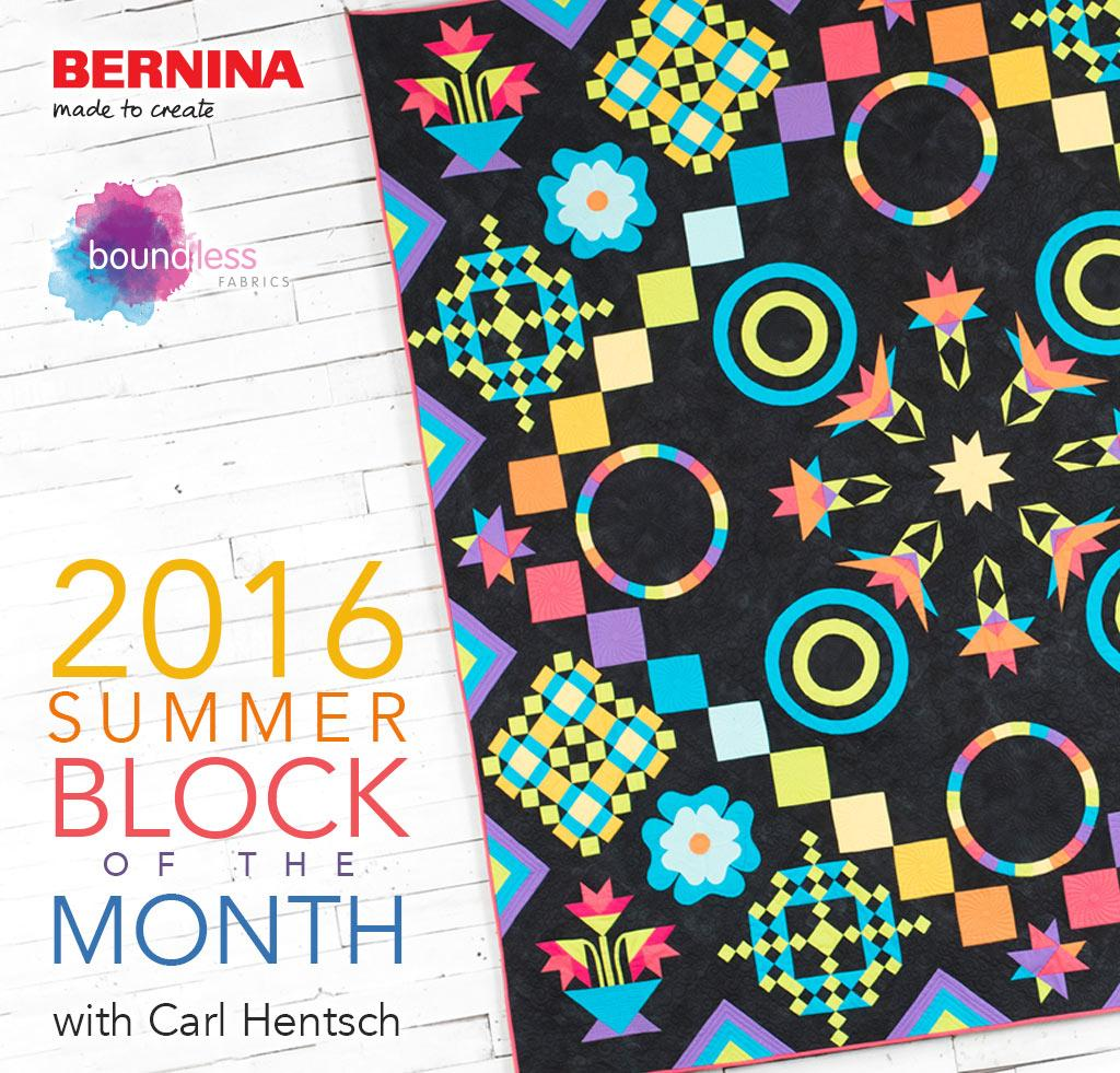 2016 Summer Block of the Month on Craftsy
