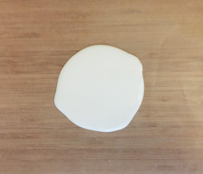 pour egg white