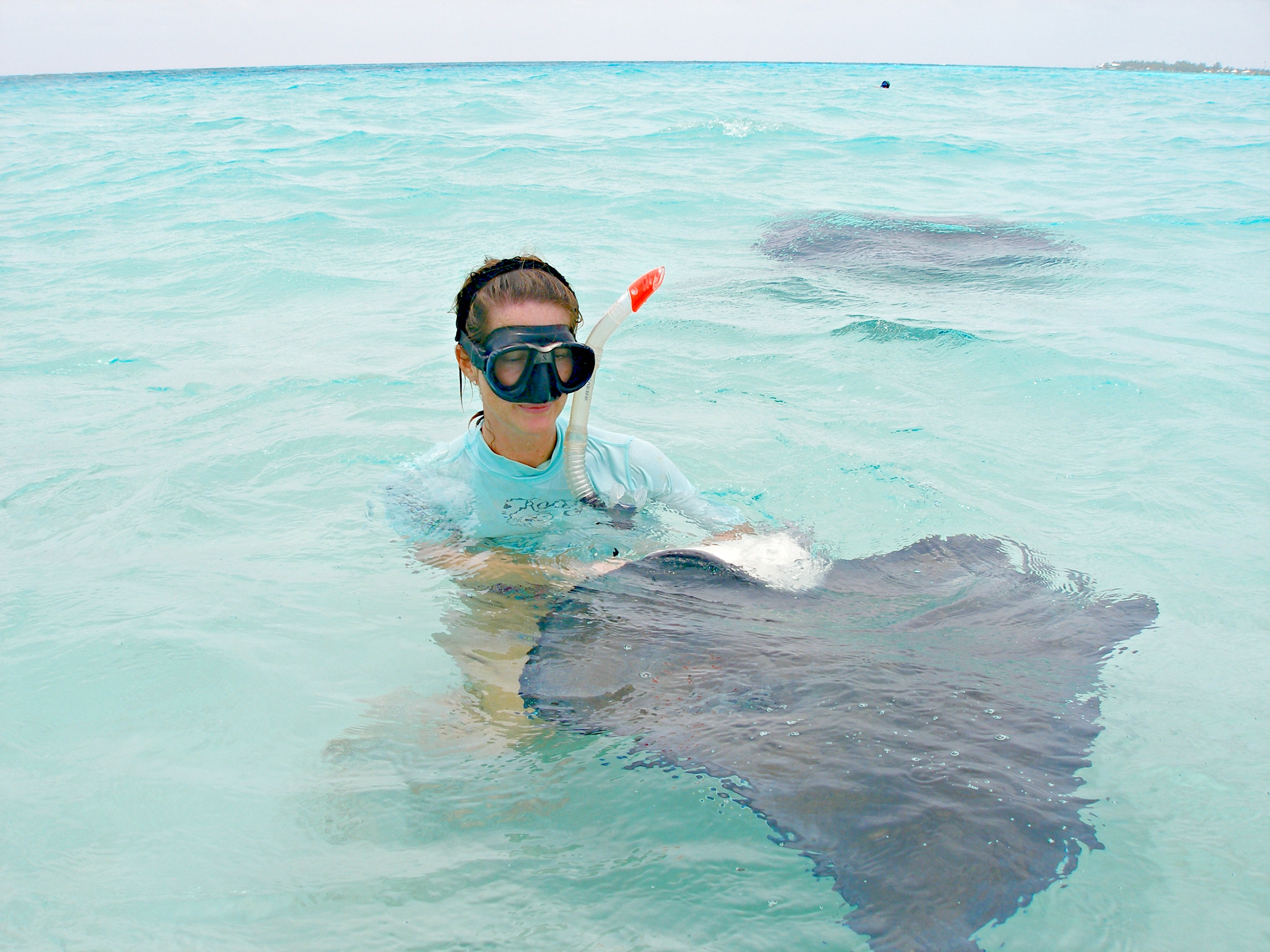 Woman posing with a stingray