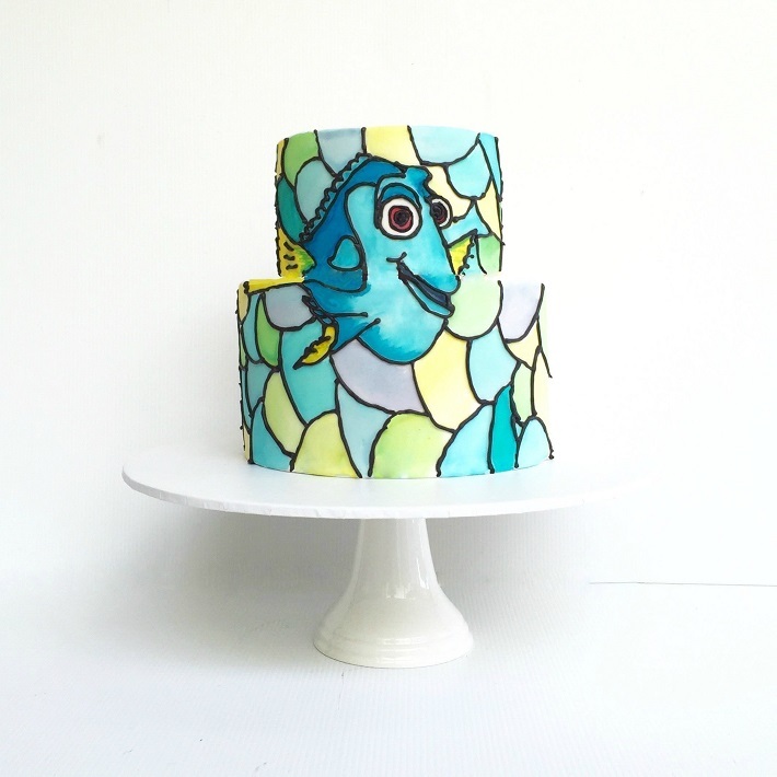 Finding Dory stained glass cake