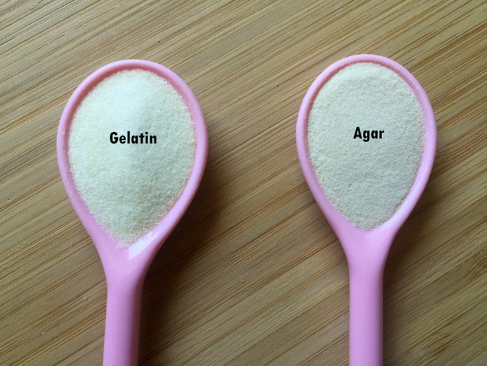 gelatin or agar