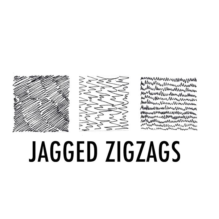 Jagged zigzags