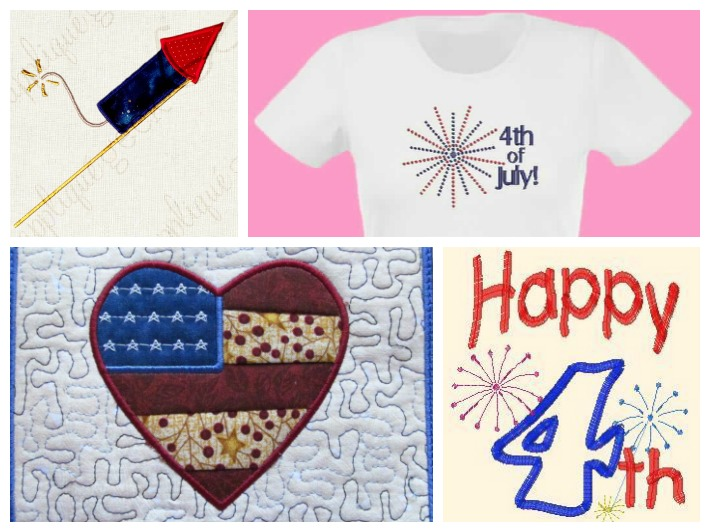 Patriotic Embroidery Collage