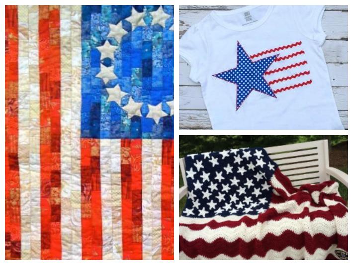 Patriotic Patterns Collage