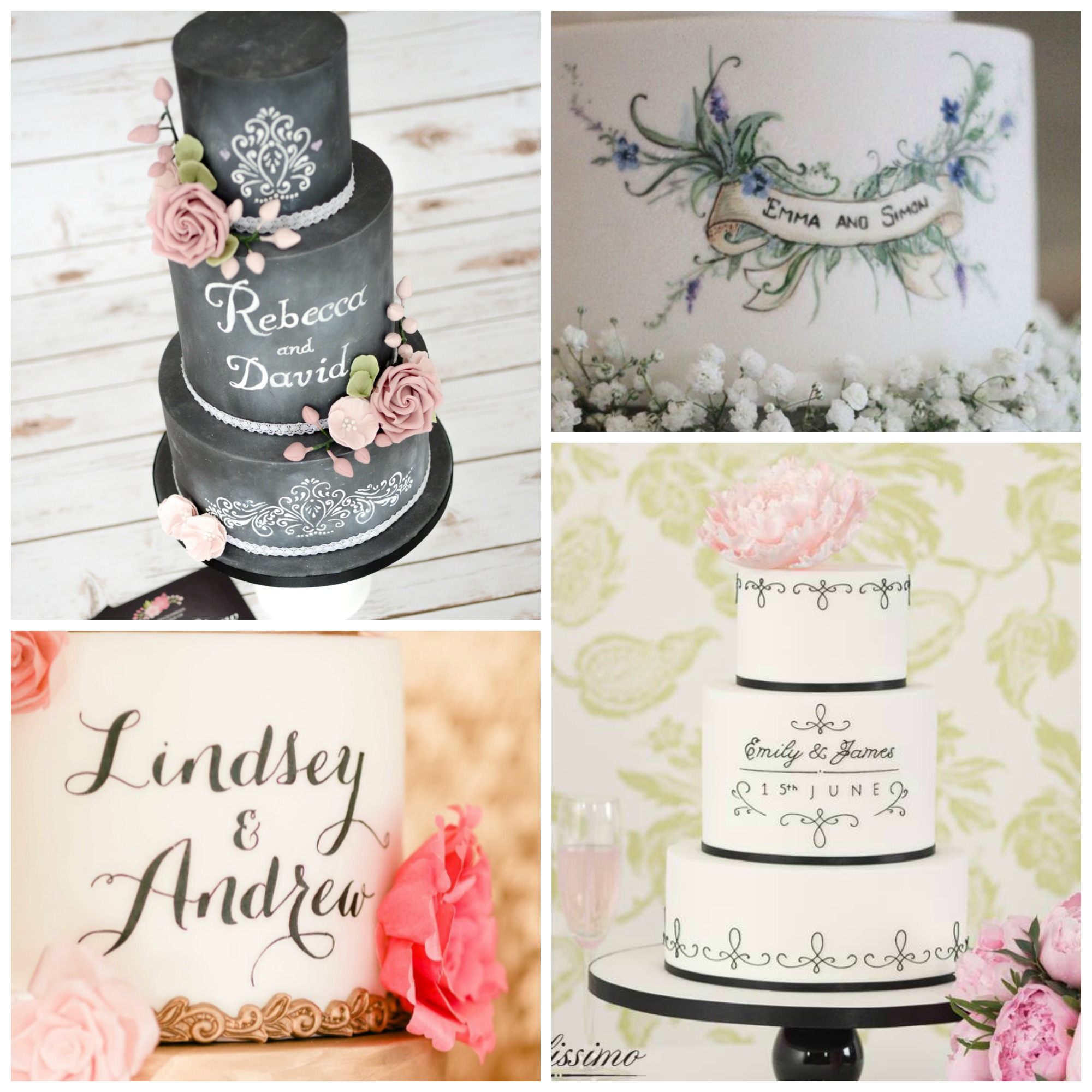 Personalized Wedding Cake Collage
