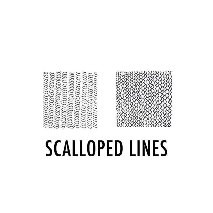 Scallop lines
