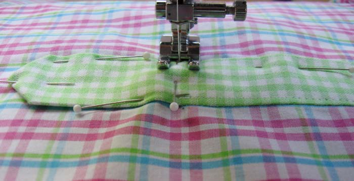sew bottom of placket