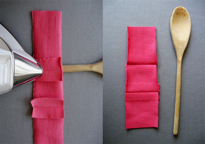 wooden spoon with iron