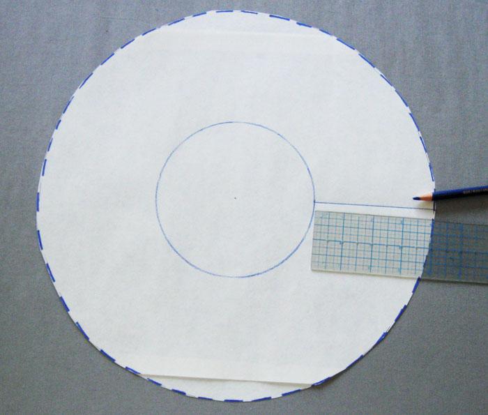 cut pattern piece along radius