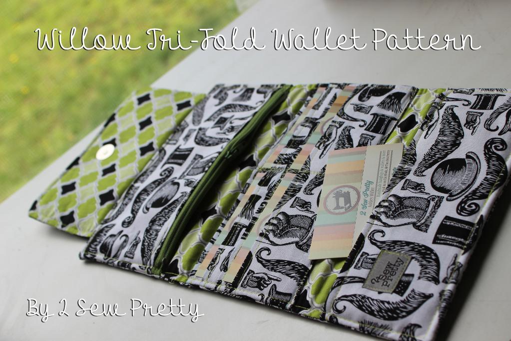 Willow Tri-Fold Wallet - 2 Sew Pretty