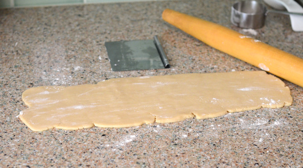 Rolling out Pie Dough for Apple Turnovers