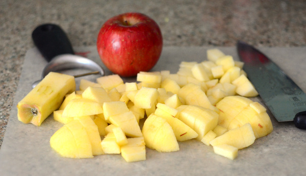 Diced Apples, for making Apple Pie Turnovers