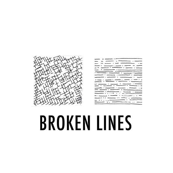 Illustration of broken lines