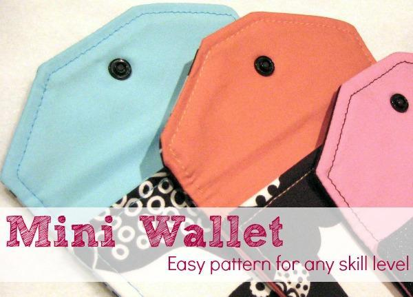 Mini Scrap Wallet FREE Sewing Pattern