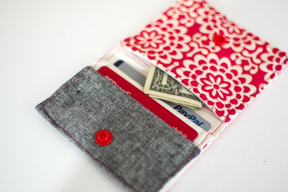 Fold and Stitch Wallet Pattern from Sew Can She