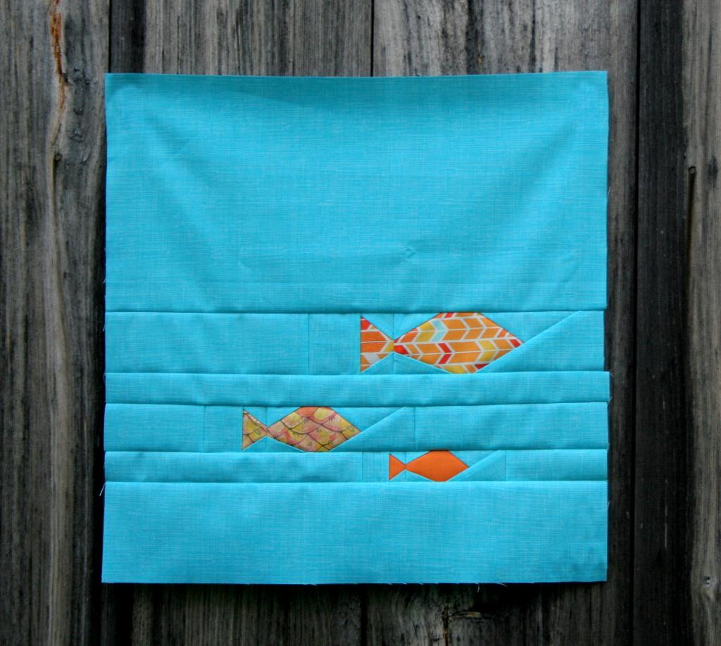 Fishies Paper Pieced Panel
