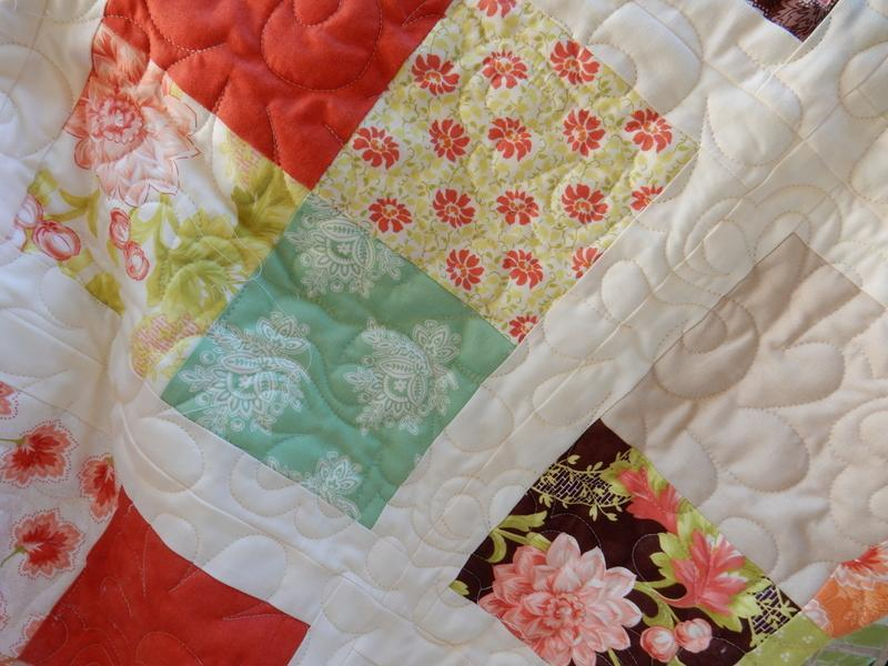 Scrappy Four Patch Lap Quilt