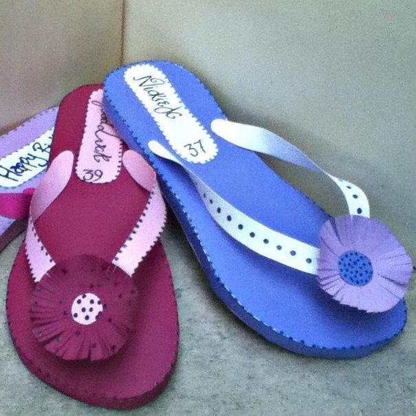 Paper Summer Flip Flops
