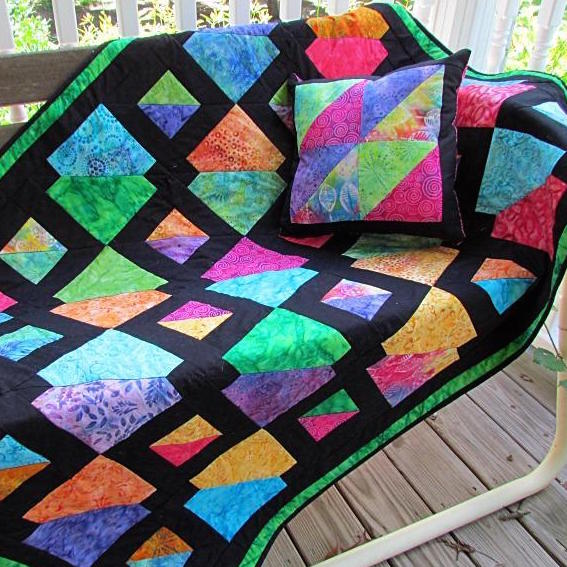 Batiks Gone Wild Quilt by Suzy's Premium Patterns