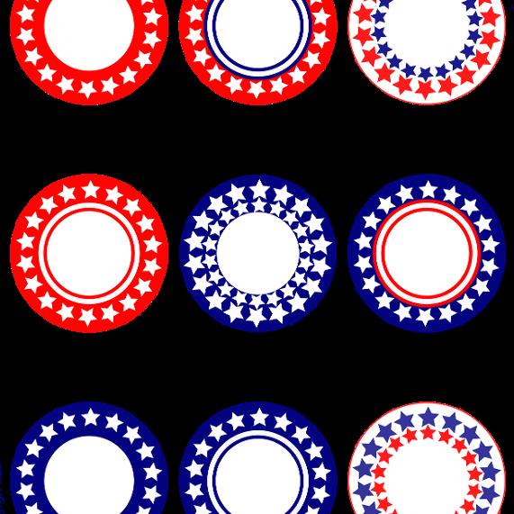 patriotic circles printable
