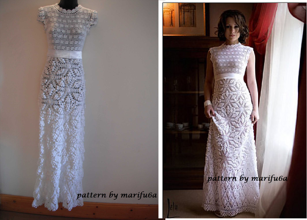 Crochet Wedding Dress Pattern