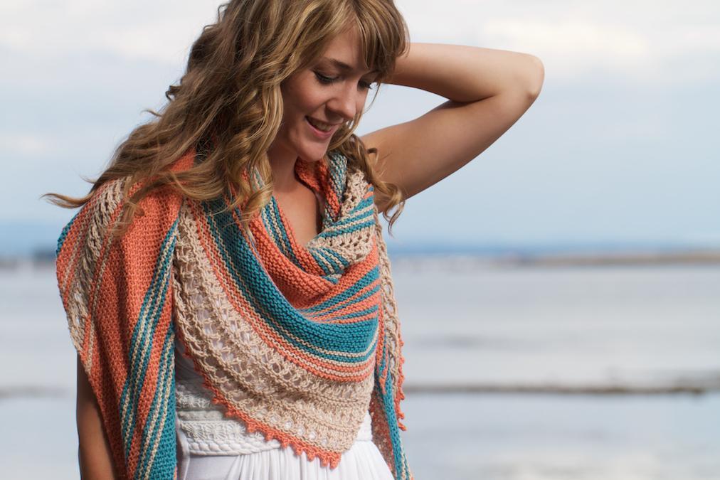 Beachcomber Shawl Knitting Pattern
