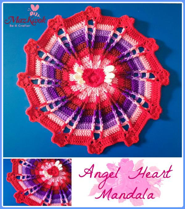 Angel Heart Mandala Crochet Pattern