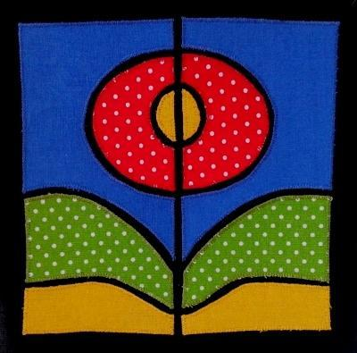 Stained Glass Flower applique