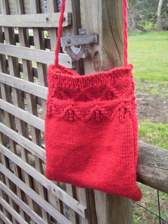 Lace Border Bag FREE Knitting Pattern