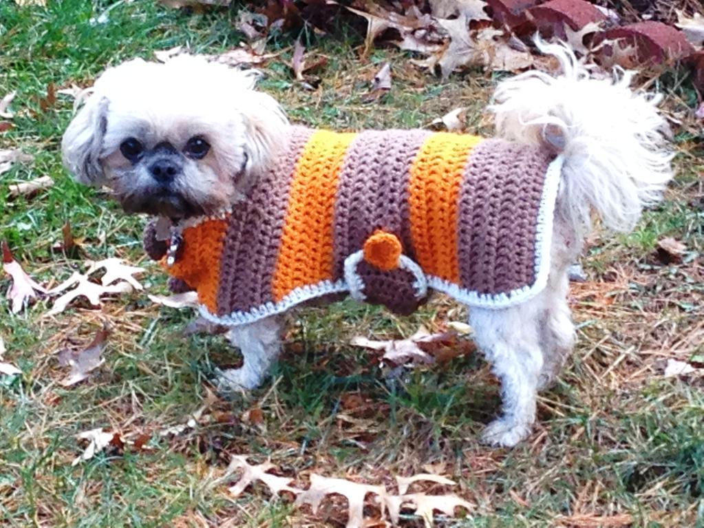 Brown Cape for Dogs Crochet Pattern