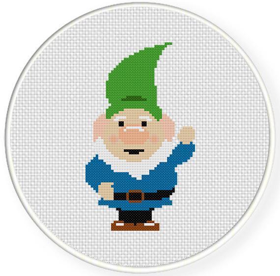 Free Garden Gome Cross Stitch Chart