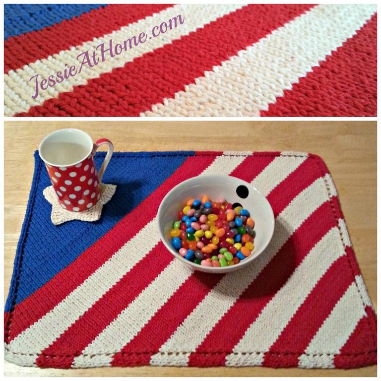 Patriotic Placemat Knitting Pattern